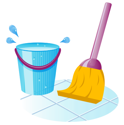 Sweeping floors | regular cleaning